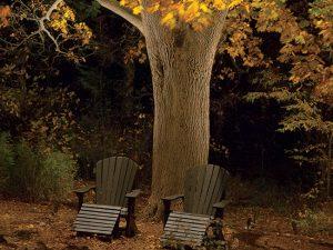Освещение места отдыха в саду